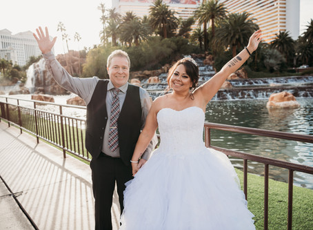 Joanne + Lenny | Post Ceremony Las Vegas Strip Photo Shoot | Las Vegas Weddings