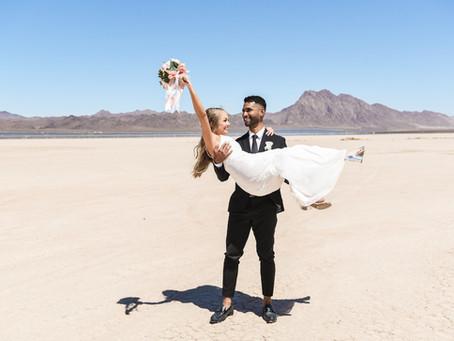 Dry Lake Bed Elopement | Las Vegas Elopements & Weddings | Crystal and Brandon