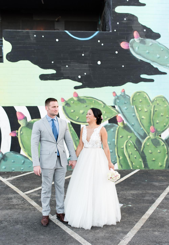 las vegas wedding, little white wedding chapel, tunnel of love, mgm skyline, mgm, vegas wedding, bride and groom, downtown las vegas, las vegas elopement photographer, downtown, wedding portraits
