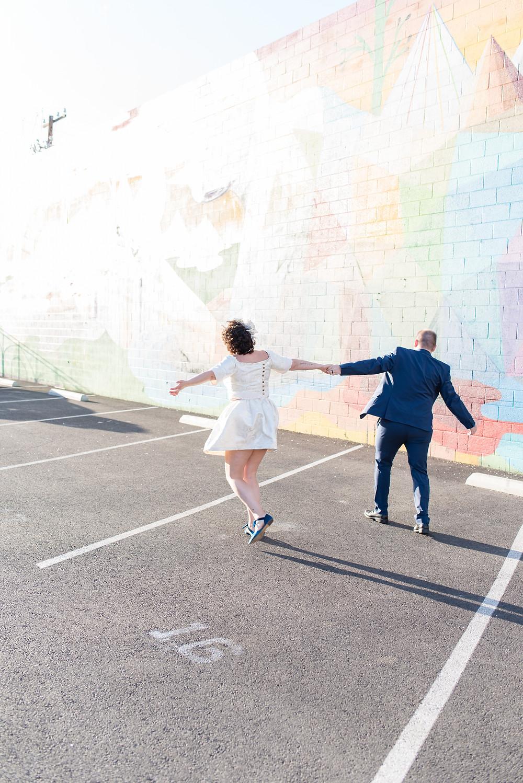 tunnel of love, little white chapel, vegas wedding, elopement, bride and groom, las vegas, vegas photographer, vegas wedding, vegas wedding photographers, downtown las vegas