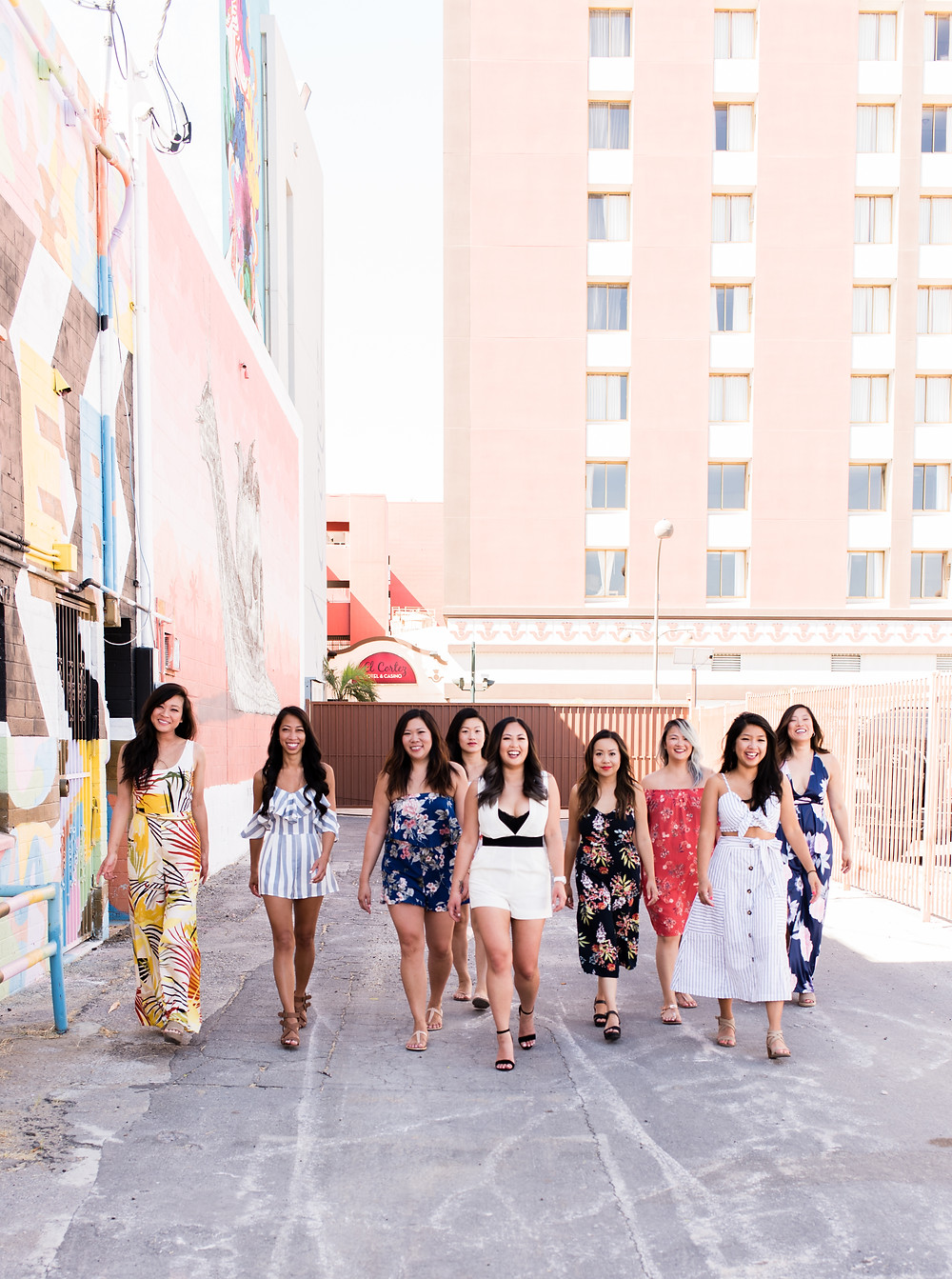 Las Vegas Bachelorette party, downtown las vegas, art mural photo tour, las vegas photographers, las vegas wedding photographers