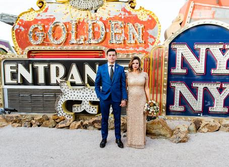 Melody + Edwin | Neon Museum and Downtown Las Vegas Elopement | Las Vegas Weddings
