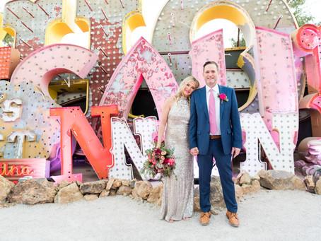 Tonya + David | Neon Museum Wedding | Las Vegas, Nevada Weddings and Elopements