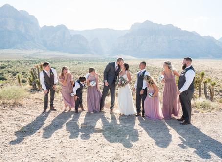 Denica + Daniel | Red Rock Overlook Wedding | Las Vegas, Nevada Weddings