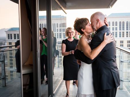 Andrea + Rod | Cosmopolitan Wrap Around Terrace Suite Elopement | Las Vegas Weddings and Elopements