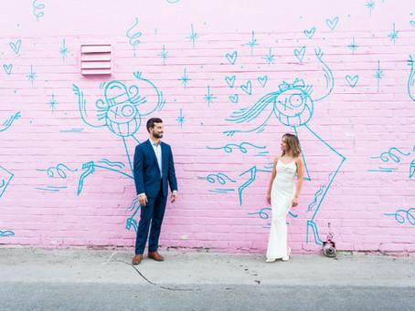 Morgan + Kyle | Little White Wedding Chapel + Downtown Vegas Portraits | Las Vegas Weddings