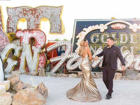 Favorite Vegas Portrait Locations | The Neon Museum | Las Vegas, Nevada Weddings and Elopements