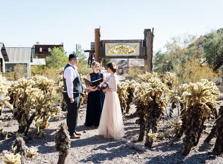 Lauren + Jesus | Nelson Ghost Town Elopement | Las Vegas, Nv Weddings