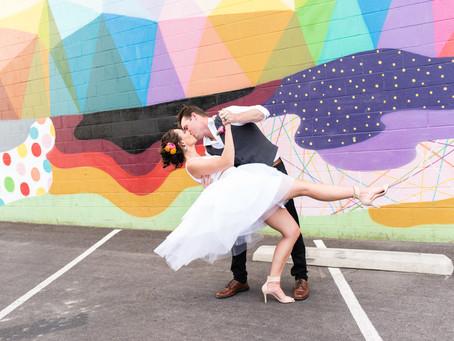 Ashlee and Jared |Stylish Downtown Las Vegas Elopement