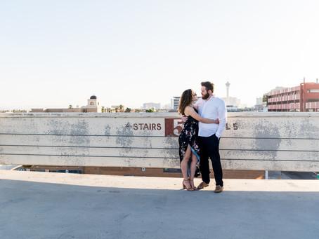 Justin + Anna | Downtown Las Vegas Couples Portraits | Las Vegas Weddings and Elopements