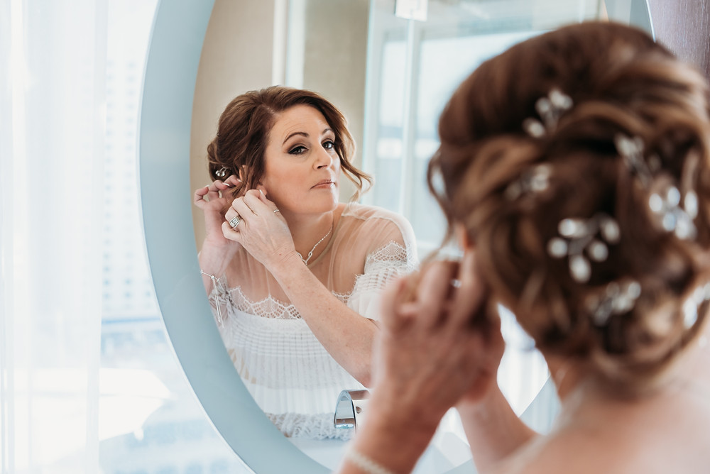 las vegas bride, bride getting ready images, getting ready, bridal suite, vegas hotel suite, aria, las vegas elopement, vegas wedding, vegas photographer, las vegas strip, engagement photos, wedding photos, vegas photography