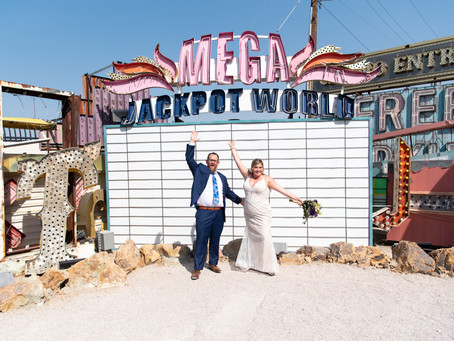 Chelsea + Nick | Neon Museum and Downtown Las Vegas Wedding Portraits | Las Vegas Weddings