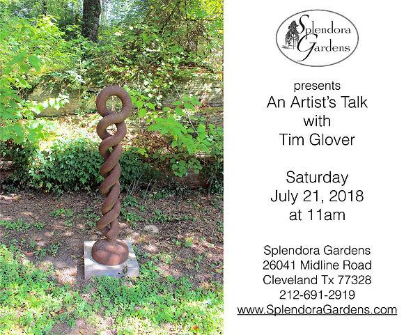 Artist Talk with Tim Glover