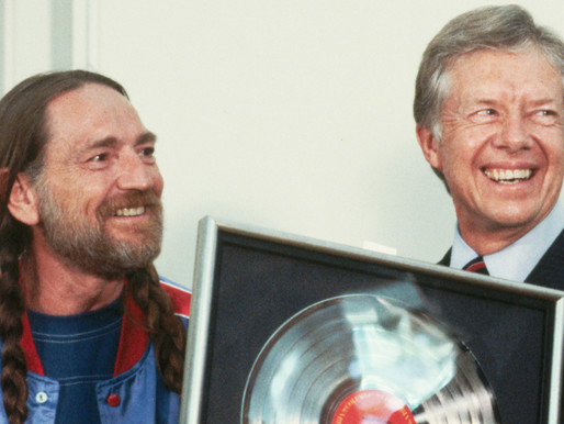 President Jimmy Carter revealed that one of his sons toked up with the icon Willie Nelson.