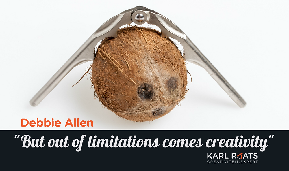 But out of limitations comes creativity. - Debbie Allen