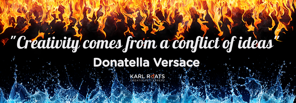 Creativity comes from a conflict of ideas. - Donatella Versace