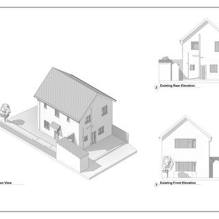 Existing Elevations and 3D model