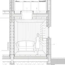 Terrace House Sectional Perspective