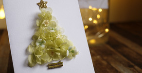 | 卡片 | 永恆耶誕樹卡片 Christmas Tree Card of Preserved Hydrangea