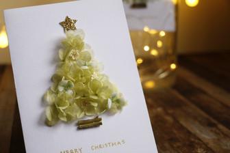   卡片   永恆耶誕樹卡片 Christmas Tree Card of Preserved Hydrangea