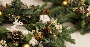 | 課程 | 私人約課—暖金耶誕花圈 Private Workshop — Golden Christmas Wreath