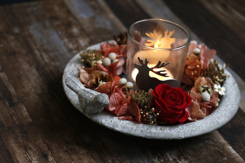 寒冬裡的溫暖—花圈燭台 Warmth in Cold Winter—Wreath Candle Plate