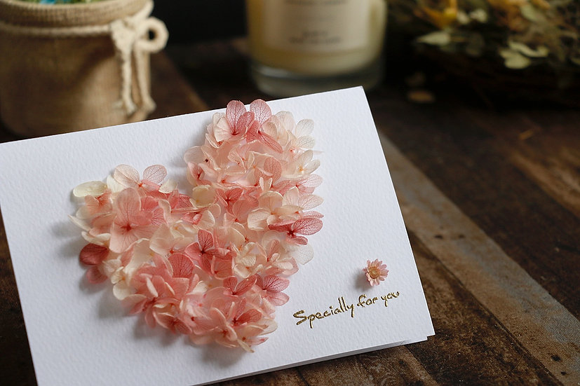 滿滿的心意永恆花卡 With All My Heart Preserved Flower Card
