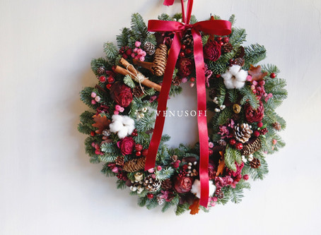 | 家飾 | 紫紅的低調熱情-諾貝松花圈 Low Profile Passion of Purple Red - Noble Fir Wreath