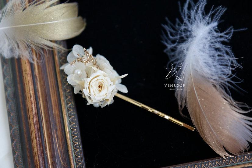迷你玫瑰髮飾 Mini Preserved Rose Hairpin