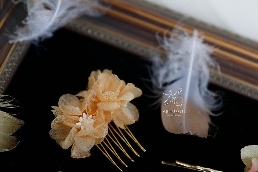 永恆紫陽花小髮叉 Preserved Hydrangea Hairpin Comb