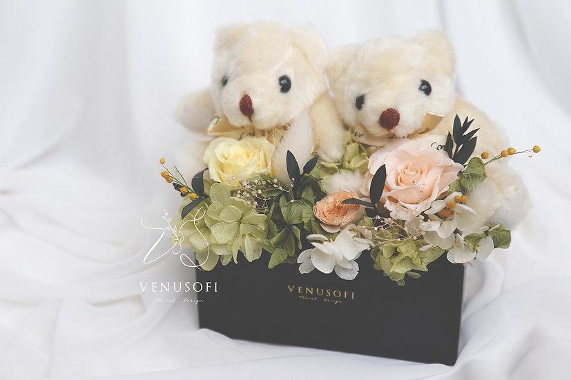 永遠在一起 - 綠漾小熊情侶組 Together Forever - Bear Couple Green Flower
