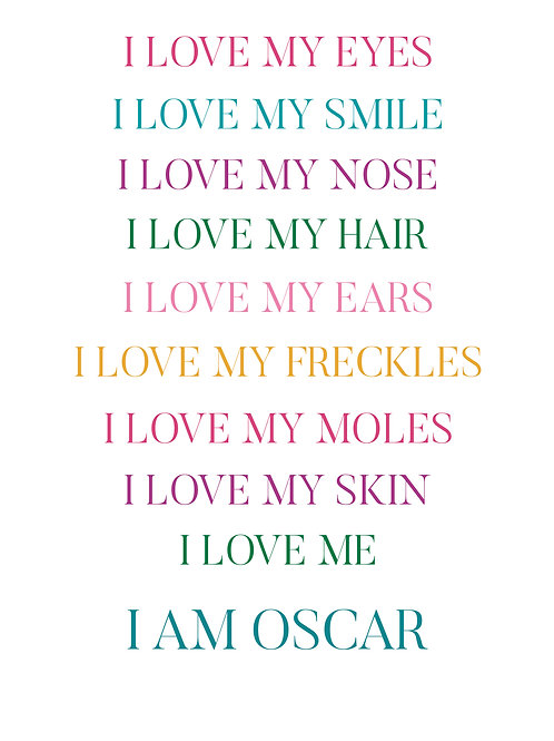 Personalised Affirmations Print