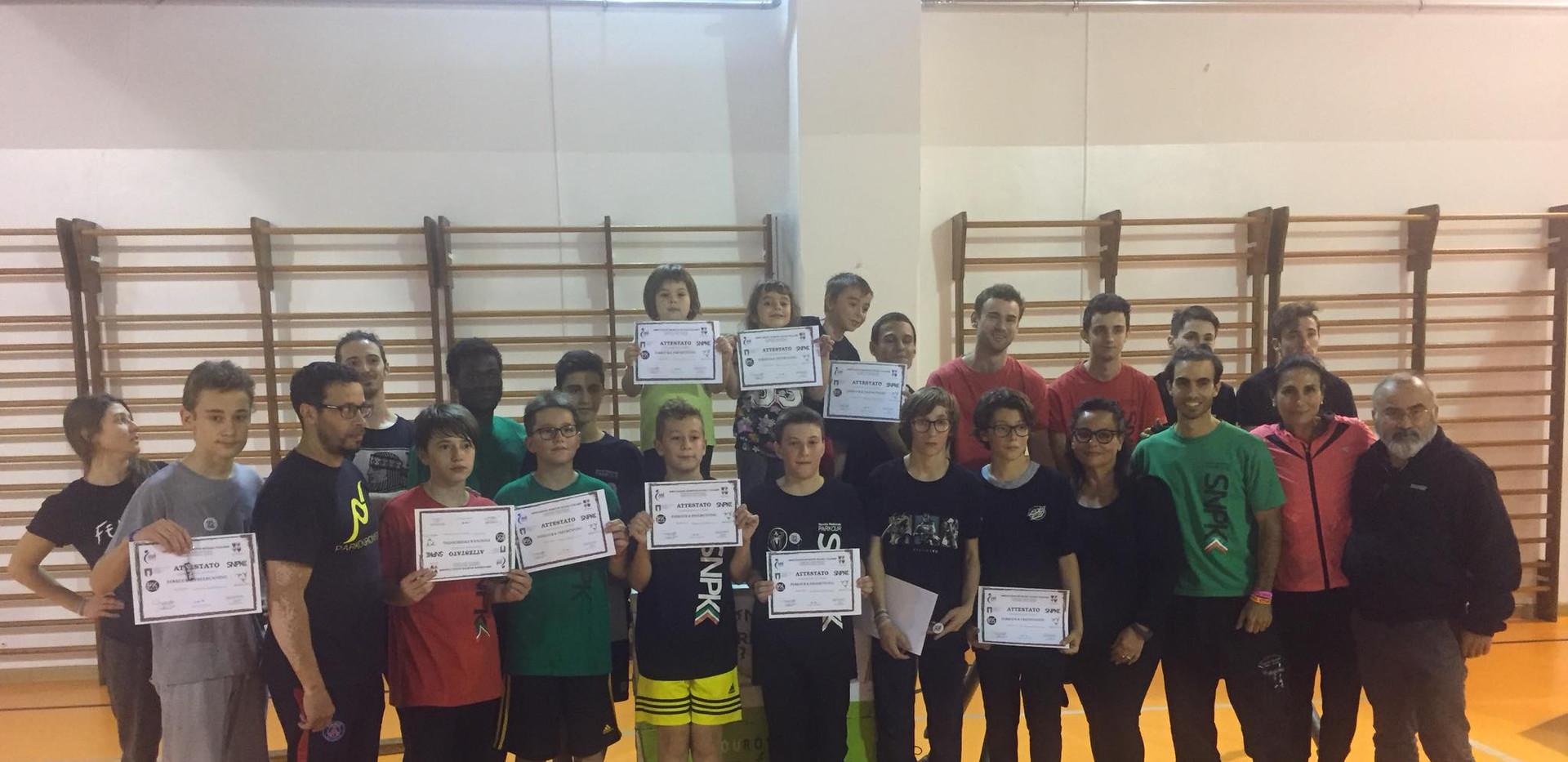partecipanti all'allenamento intensivo
