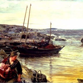 Home with the tide 1880 by james clarke hook tate gallery