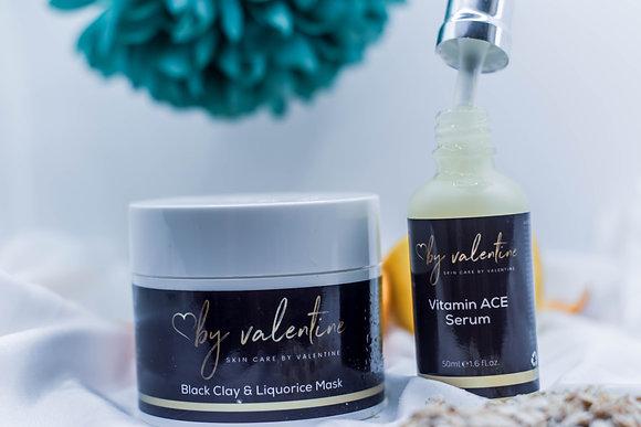 BLACK CLAY MASK + Vitamin ACE SERUM Duo Set