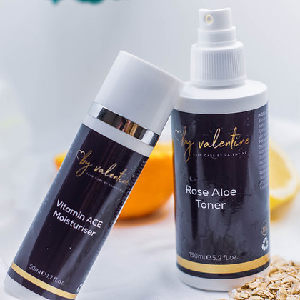 Vitamin ACE Moisturiser + Rose Aloe TONER Duo Set