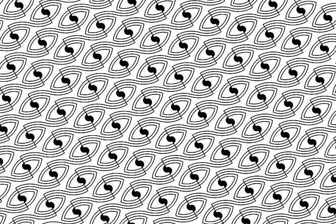 Eyeglasses Calgary shop Respect Eyecare branding eye pattern logo.