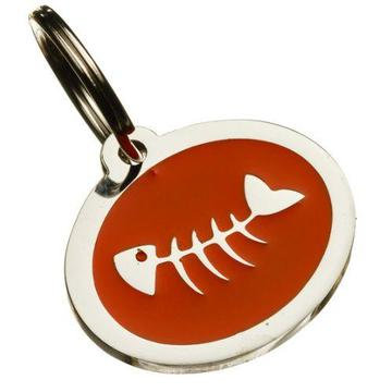 Fish Styled Oval Pet Tag