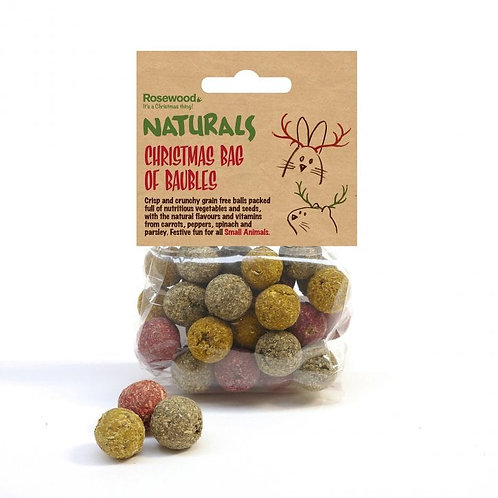 Christmas Bag of Baubles for Small Pets by Rosewood