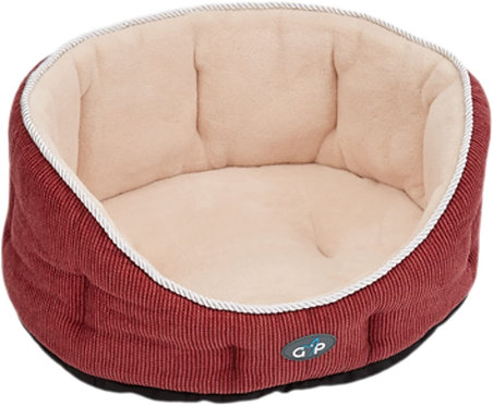 """Gor Pets Deluxe Cozy Bed Coral Weave 24"""""""