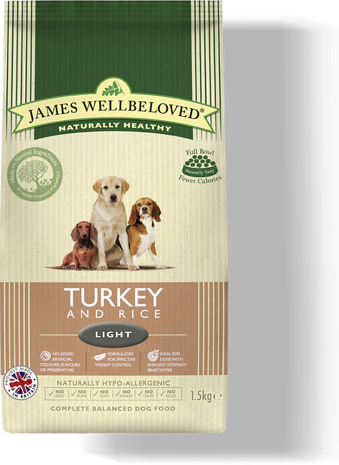 James Wellbeloved Light Turkey & Rice 1.5kg