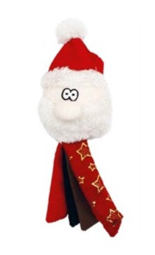 Tassel Santa Dog toy by Happypet