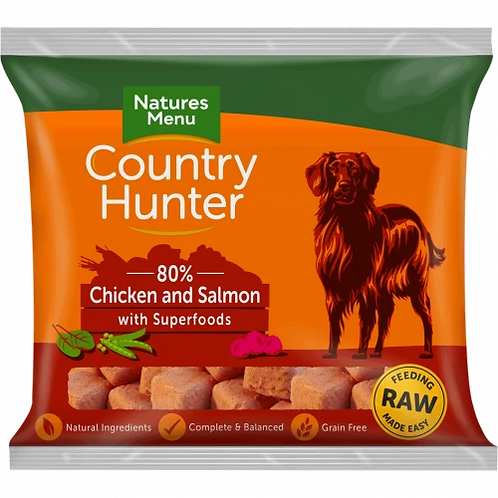 Natures Menu Country Hunter Raw Superfood Nuggets Chicken with Salmon