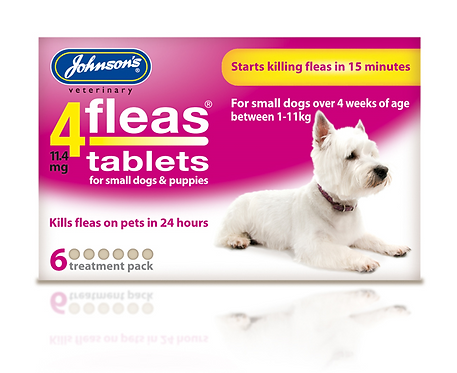 Johnson's 4fleas Tablets for Puppies & Small Dogs