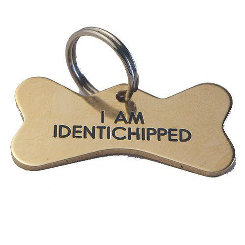 Brass Bone shaped Pet Tag