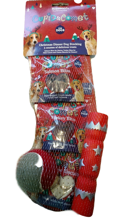 Rosewood Christmas Dinner Stocking for Dogs