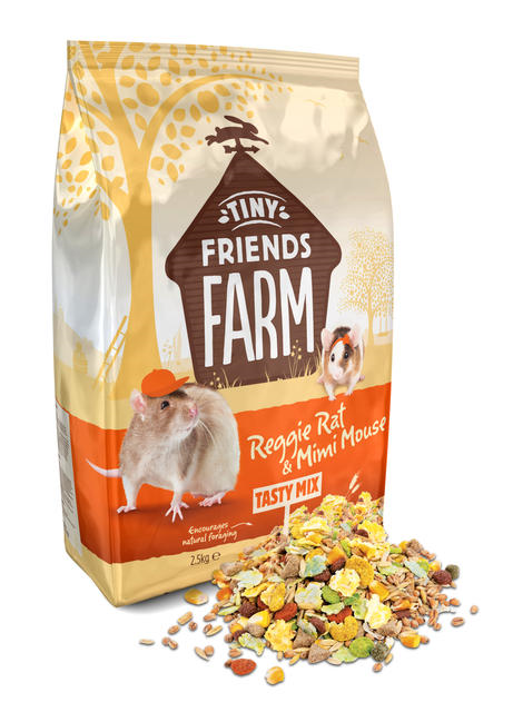 Tiny Farm Friends Reggie Rat & Mimi Mouse Tasty Mix 850g