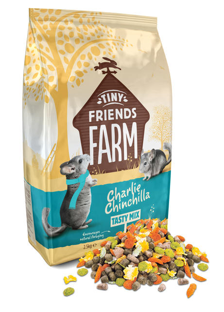 Tiny Farm Friends Charlie Chinchilla Tasty Mix 850g