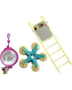 Happypet Fun at the Fair Bird Toy Multipack Mirror/Ladder/Carousel