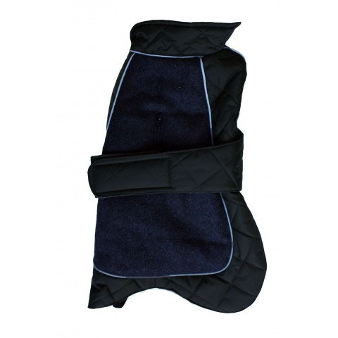 Go Walk Quilted Thermal Dog Coat Black